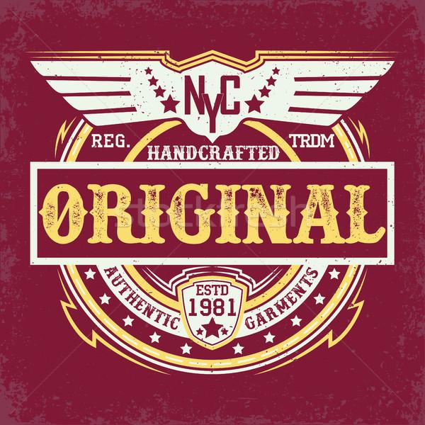 Shirt stampa design vintage denim tipografia Foto d'archivio © BoogieMan