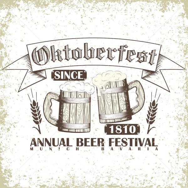 Beer festival emblem Stock photo © BoogieMan