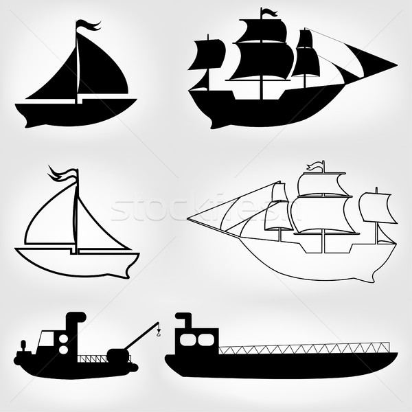 судно линия дизайна вектора фон Сток-фото © BoogieMan