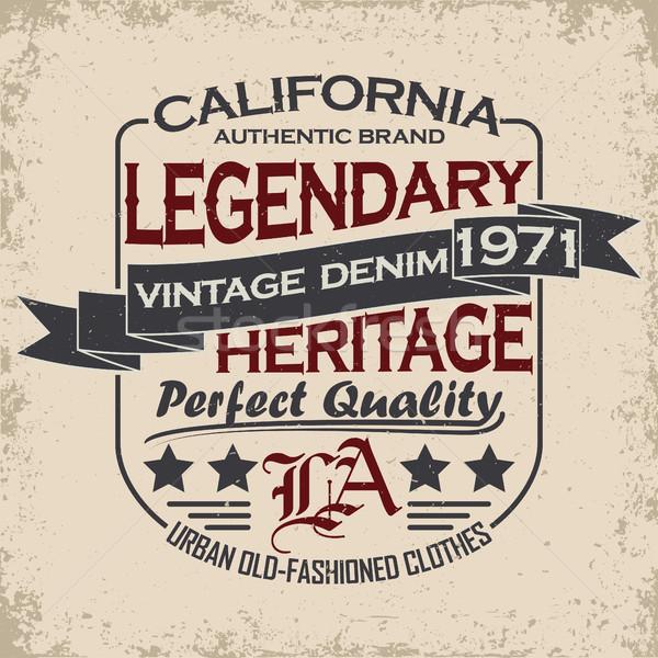 Denim stampa vintage tipografia grunge tshirt Foto d'archivio © BoogieMan