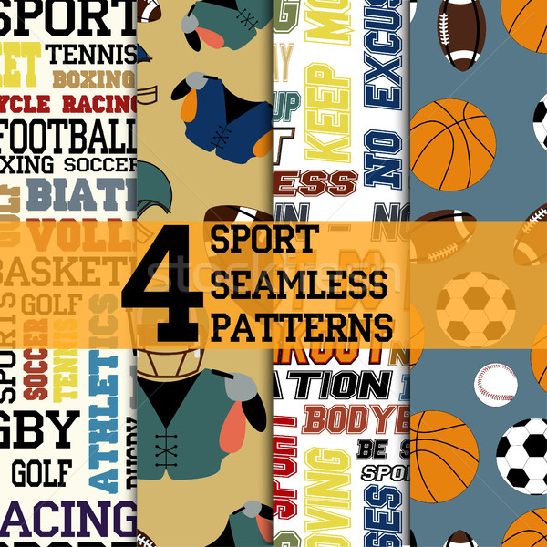 Sport patterns set Stock photo © BoogieMan