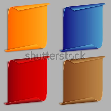 vertical curved banners set Stock photo © BoogieMan
