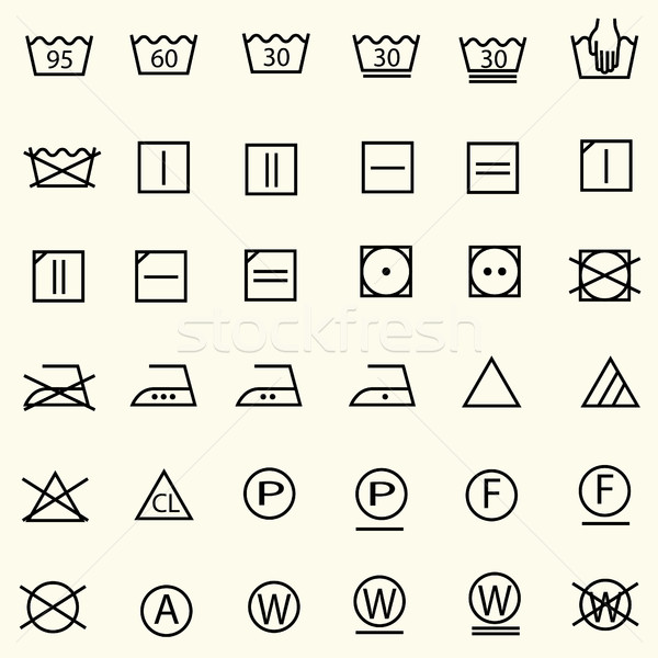 Photo stock: Textiles · soins · signes · signe · buanderie