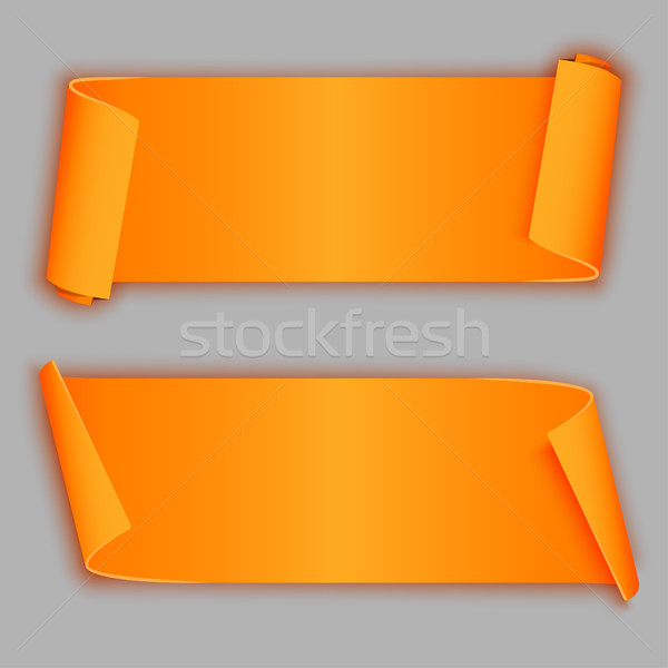 Orange curved banners Stock photo © BoogieMan