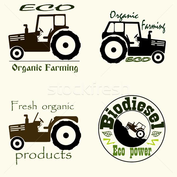 Tractor emblem set Stock photo © BoogieMan