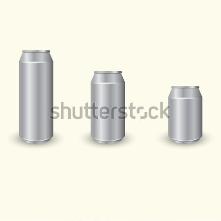 Aluminium cans set Stock photo © BoogieMan