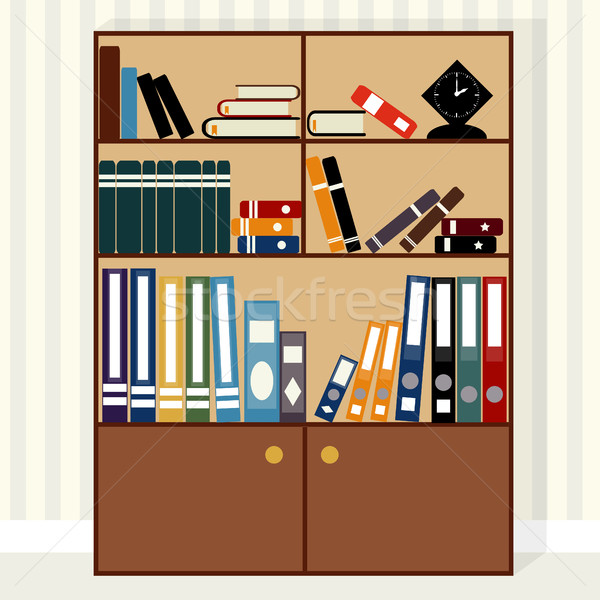 bookcase flat design Stock photo © BoogieMan