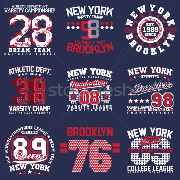 печать набор спорт футболки графика Сток-фото © BoogieMan