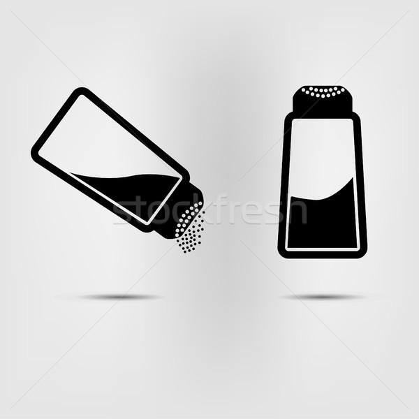 salt icon flat Stock photo © BoogieMan