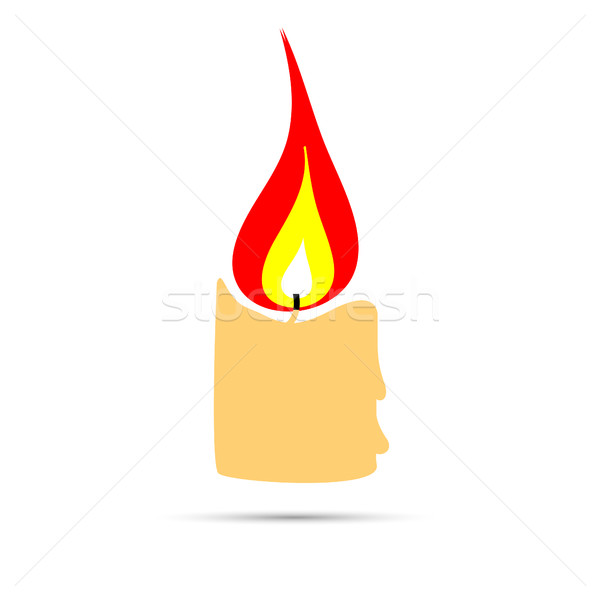 сжигание свечу знак икона дизайн логотипа стиль Сток-фото © BoogieMan