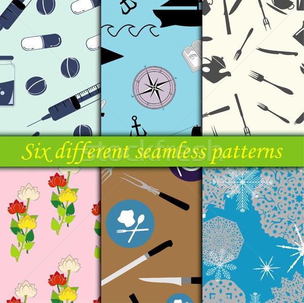 Set of seamless patterns Stock photo © BoogieMan