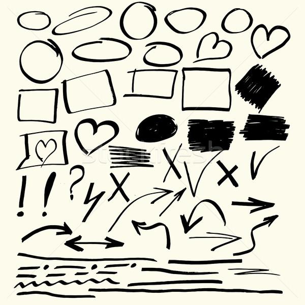 Hand drawn vector abstract elements Stock photo © BoogieMan