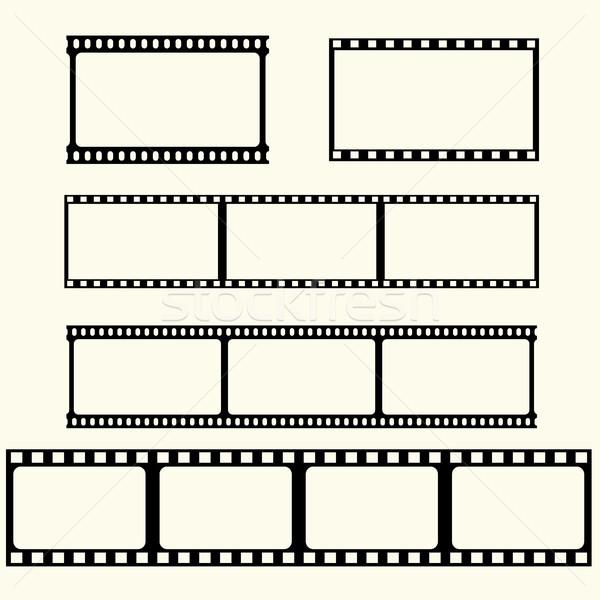 фильма лента набор вектора кадр черный Сток-фото © BoogieMan