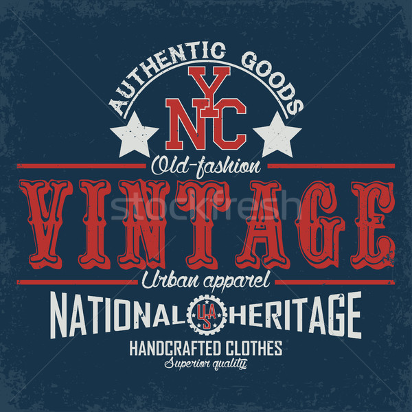Shirt stampa design vintage tipografia emblema Foto d'archivio © BoogieMan