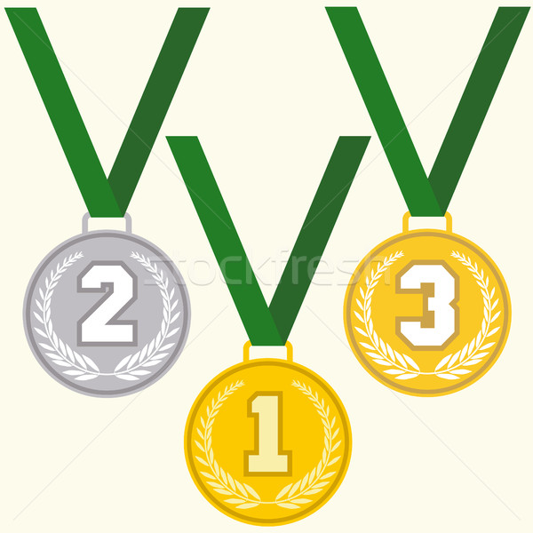 Set of signs medal Stock photo © BoogieMan