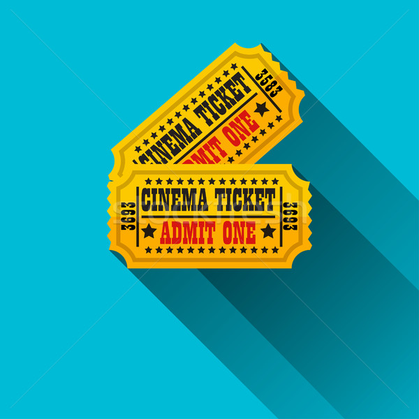 Cinema tickets flat design Stock photo © BoogieMan