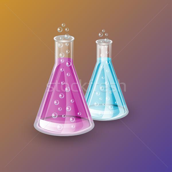 Realistic chemical flasks Stock photo © BoogieMan