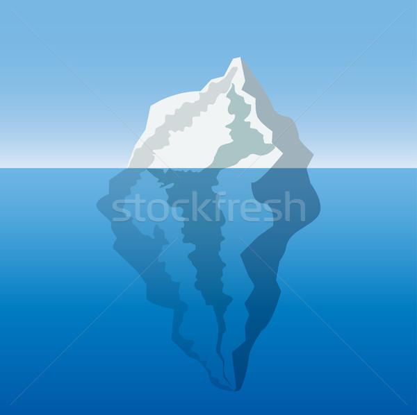 Ijsberg oceaan ontwerp vector landschap zee Stockfoto © BoogieMan