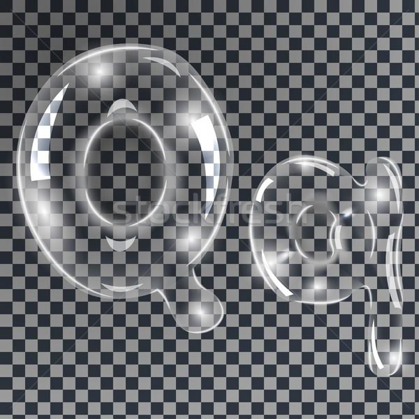 Bubbles letters Q Stock photo © BoogieMan