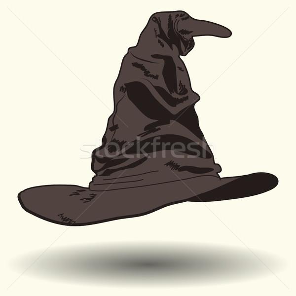говорить Hat Cartoon стиль иллюстрация изолированный Сток-фото © BoogieMan