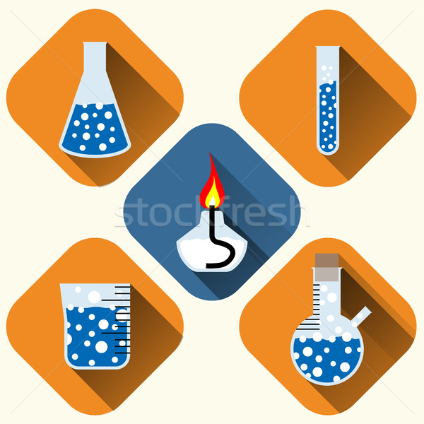 Chemical icons set Stock photo © BoogieMan
