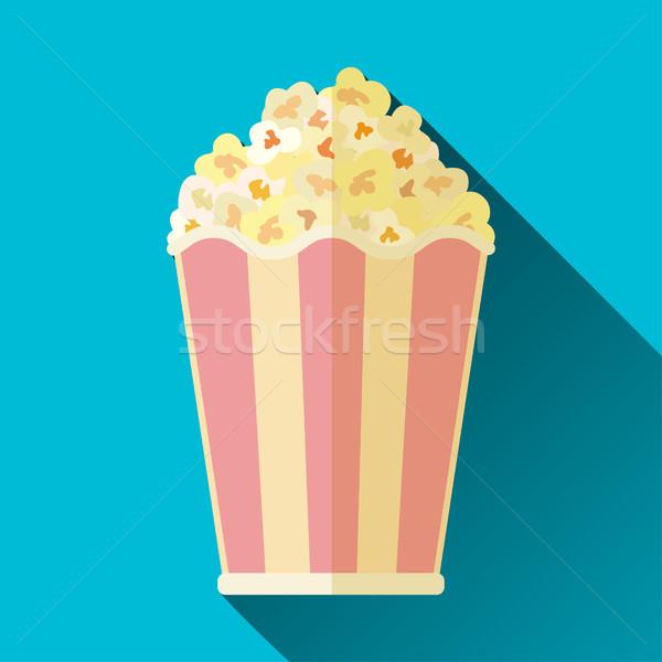 popcorn bucket icon Stock photo © BoogieMan