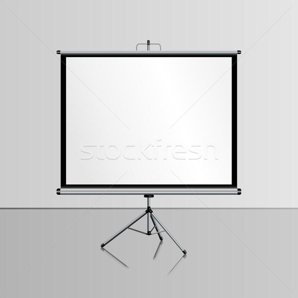 Blank presentation screen Stock photo © BoogieMan