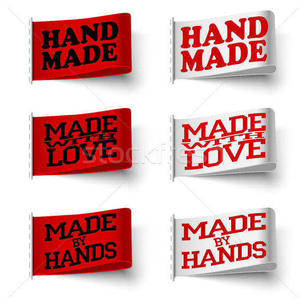 Set of textile labels Stock photo © BoogieMan
