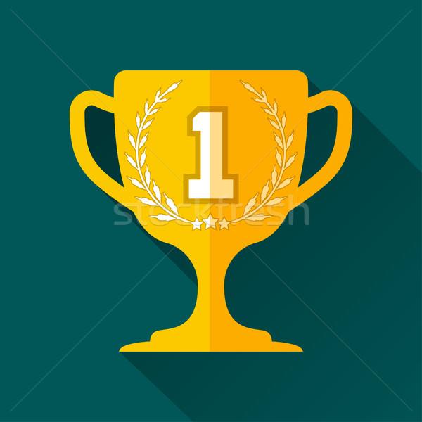 Кубок дизайна вознаграждать победу венок Сток-фото © BoogieMan