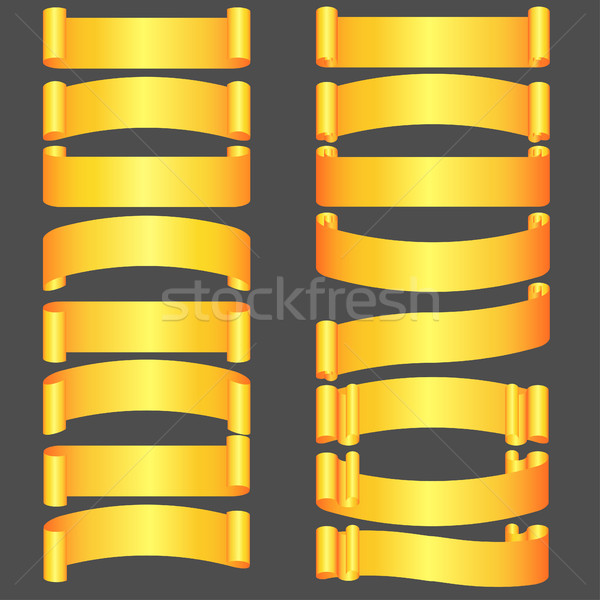 golden ribbons set  Stock photo © BoogieMan