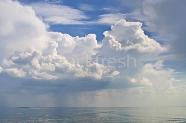 облака морем непогода небе фон синий Сток-фото © Borissos
