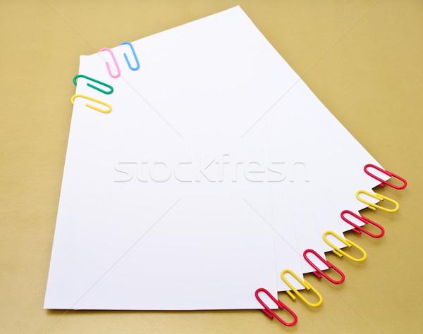 Couleur autocollants papier isolé blanche affaires Photo stock © Borissos