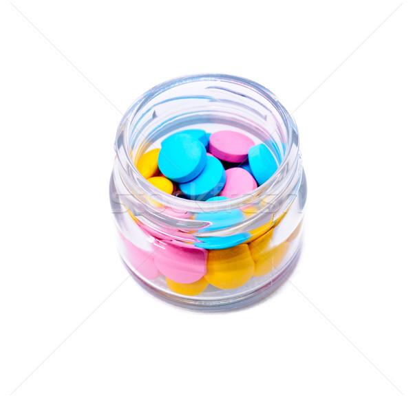Renkli yalıtılmış beyaz tıp ilaçlar kimya Stok fotoğraf © Borissos