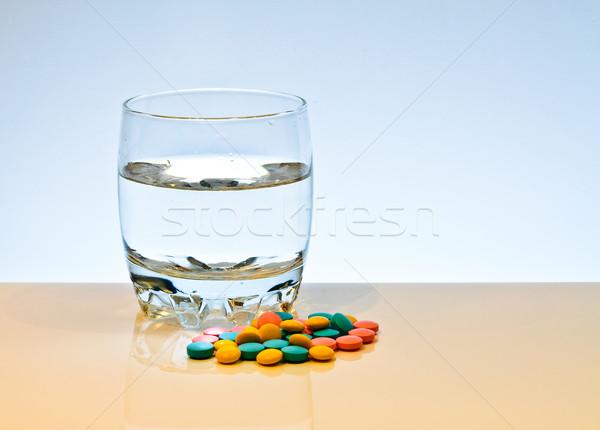 Renkli yalıtılmış beyaz tıp bilim kırmızı Stok fotoğraf © Borissos