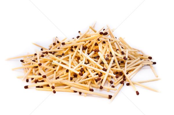 Matches objets blanche vue isolé Photo stock © Borissos