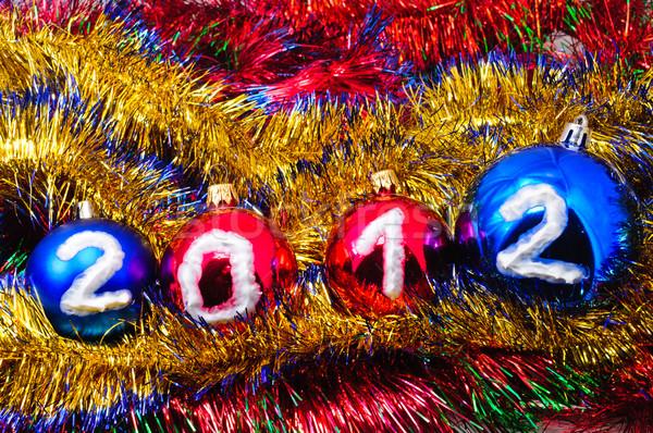 Noël décorations différent couleurs fond beauté Photo stock © Borissos
