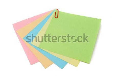 Renk yalıtılmış beyaz kâğıt dikkat Stok fotoğraf © Borissos