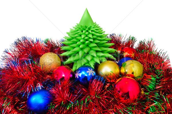 Noel süslemeleri farklı renkler arka plan güzellik Stok fotoğraf © Borissos