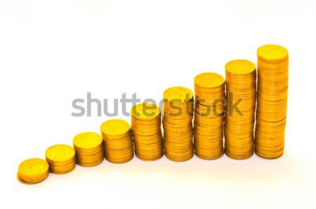 Zamanlamak madeni para yalıtılmış beyaz para dizayn Stok fotoğraf © Borissos
