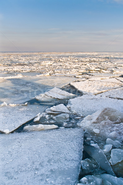 вещи движущихся весны морем зима синий Сток-фото © Borissos