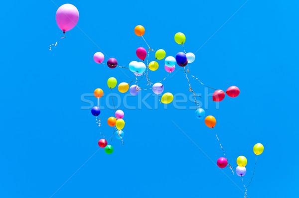 многие шаров лет небе Blue Sky вечеринка Сток-фото © Borissos