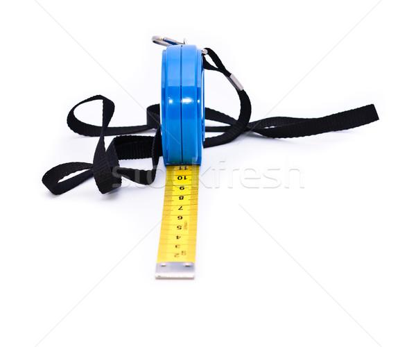 Stok fotoğraf: şerit · metre · ölçmek · uzunluk · nesneler · beyaz · çalışmak