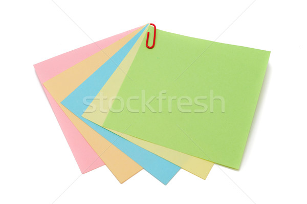Color pegatinas papel aislado blanco negocios Foto stock © Borissos