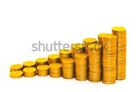 Calendario monedas aislado blanco dinero diseno Foto stock © Borissos
