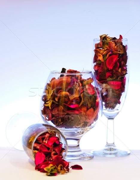 Vidrio secado hojas secar fragante Foto stock © Borissos