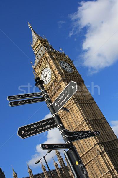 Big Ben saat kule işaretleri Stok fotoğraf © borna_mir