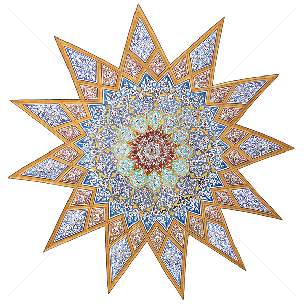 Painted star motif Stock photo © borna_mir