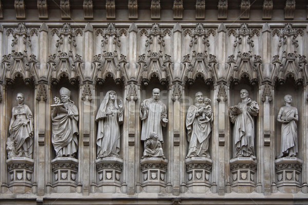 Stock photo: Westminster Abbey facade statues