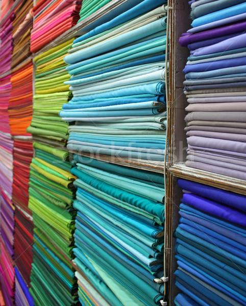Renkli raflar tok Hint kumaş Stok fotoğraf © borna_mir