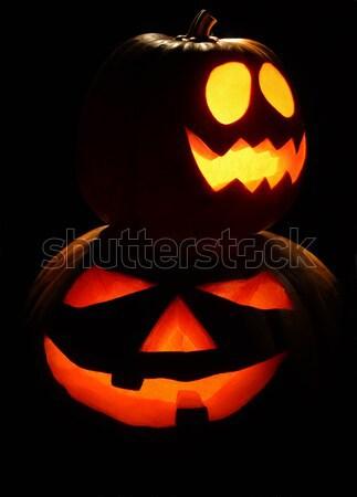 Iki halloween gece Stok fotoğraf © borna_mir